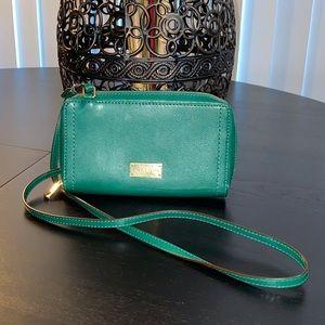LAUREN BY RL Leather Mini Wallet  Crossbody Bag